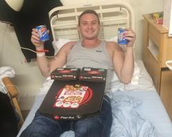 Got sick of hospital food