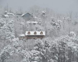 2011, stuck in Gatlinburg for 4 days due to the ice storm. Fun times!